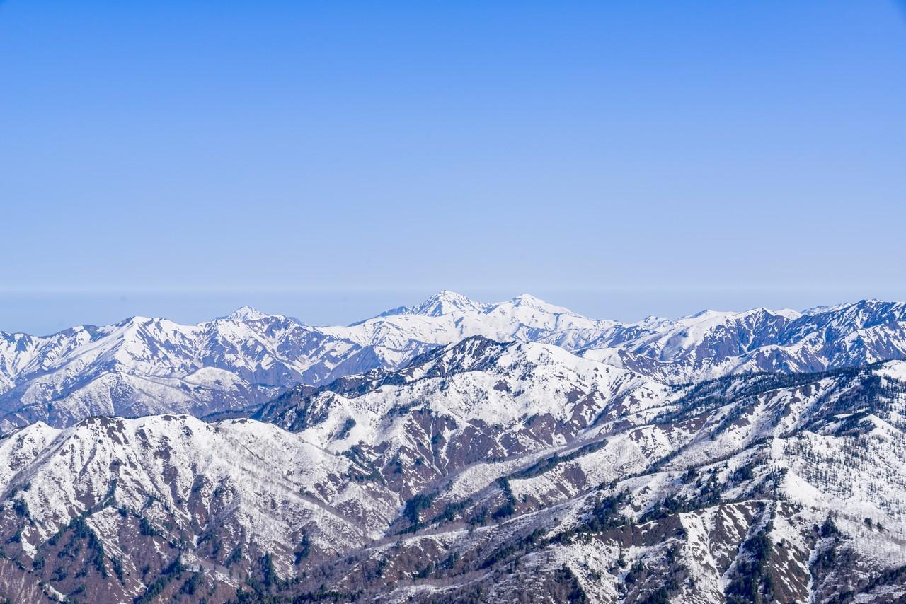 至仏山から見た越後三山