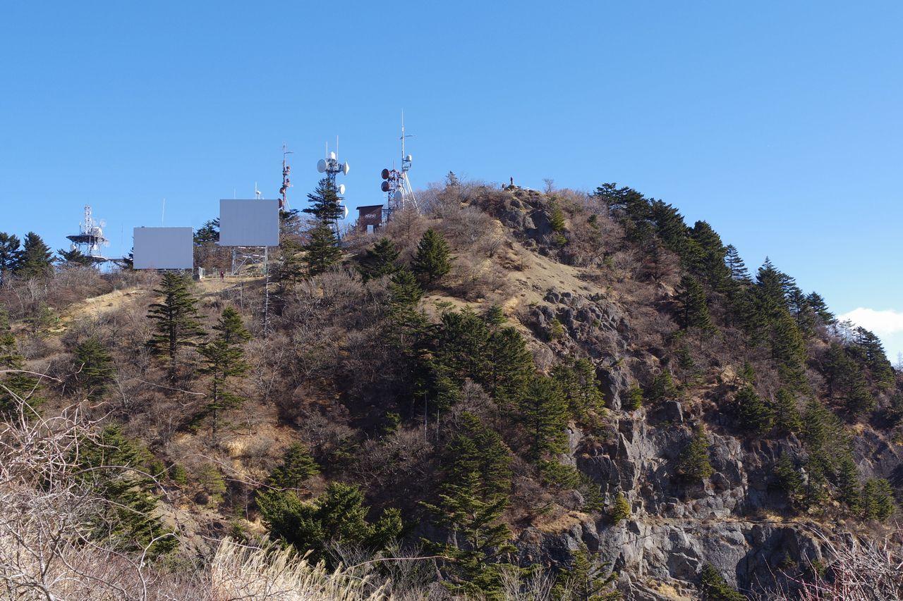三ッ峠山 開運山の山頂部