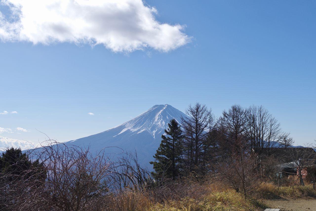 三ッ峠山から見た富士山