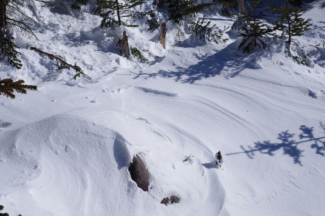 茶臼山から見た縞枯山