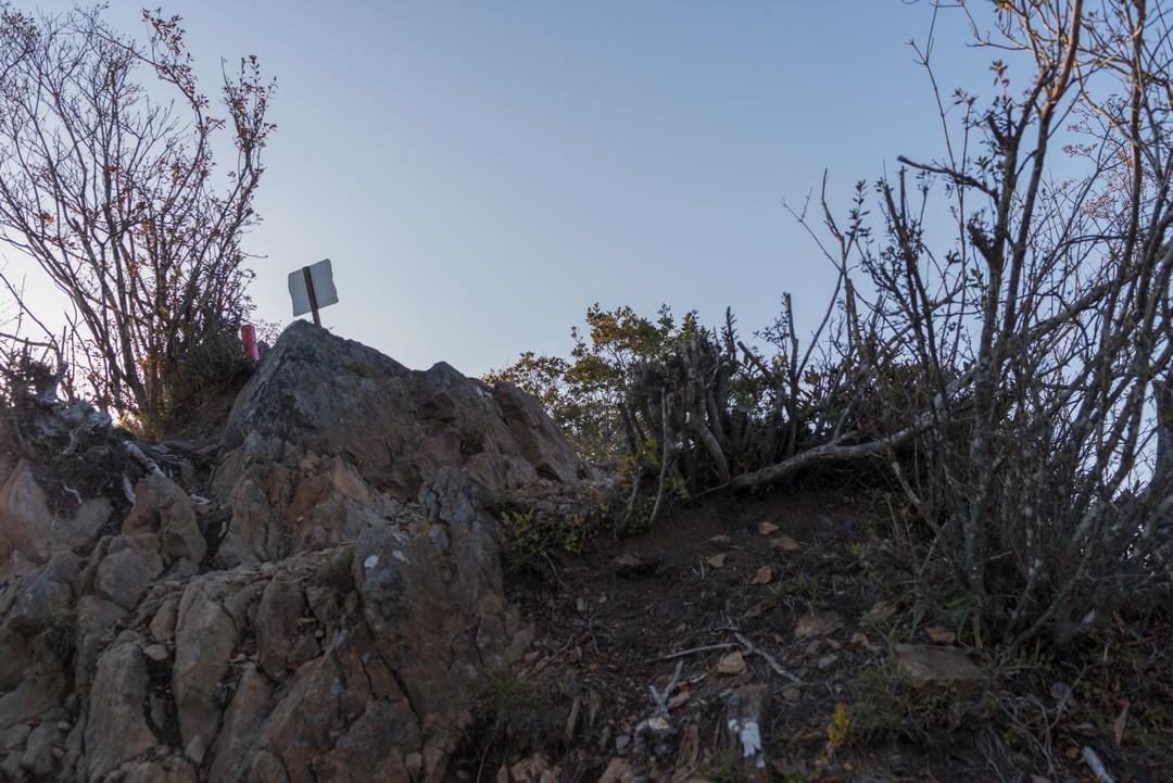 滝子山山頂直下の急坂