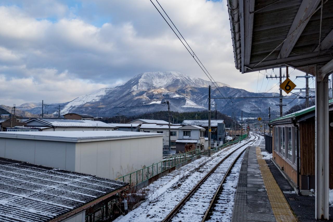 近江長岡駅から見た伊吹山