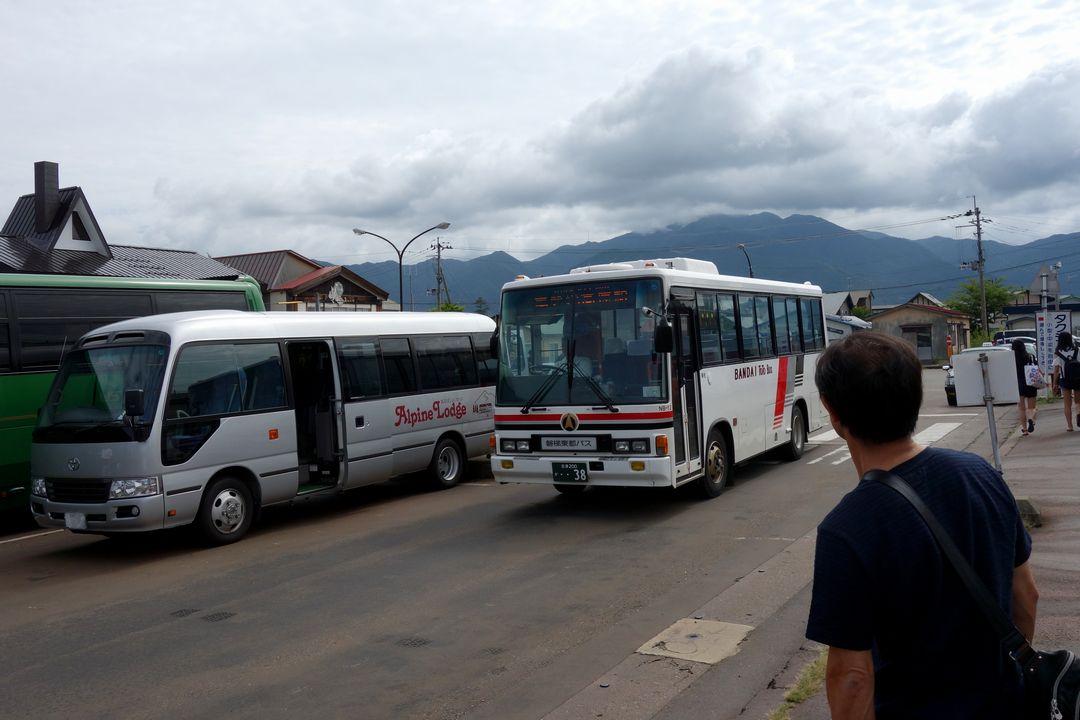 裏磐梯高原行きのバス