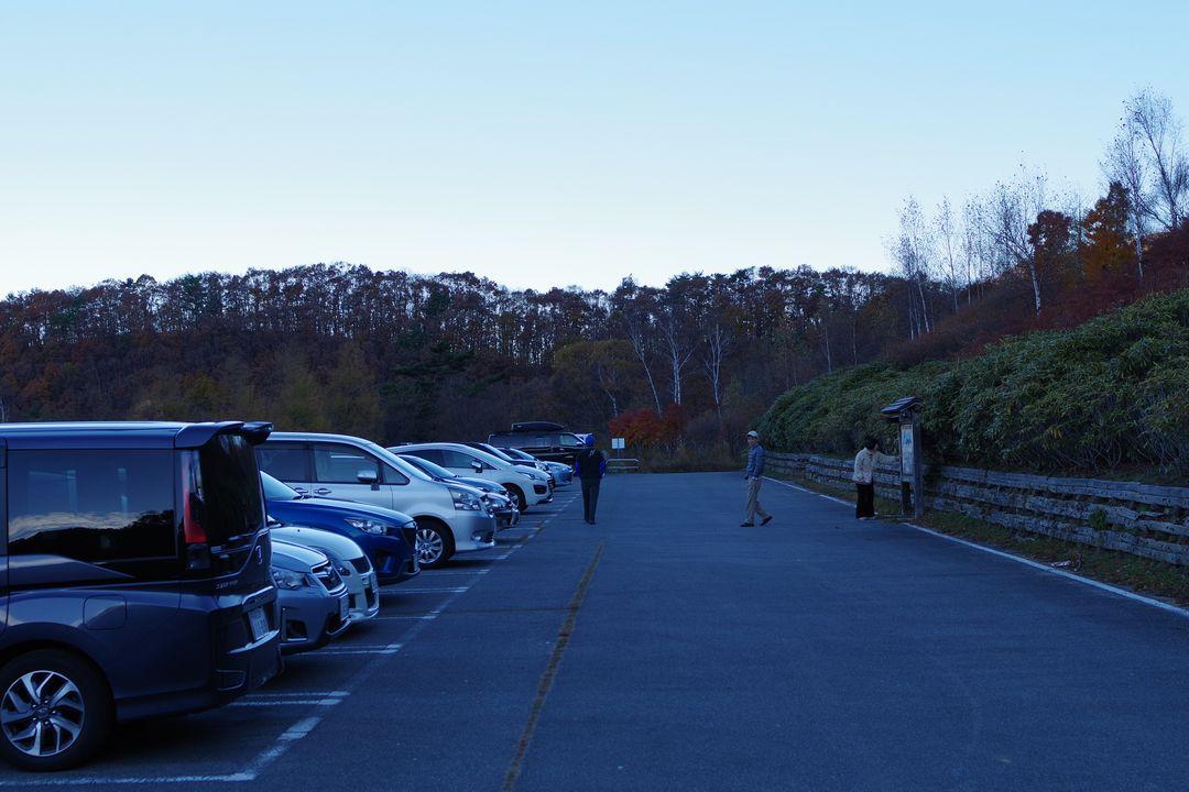 みずがき山自然公園の駐車場