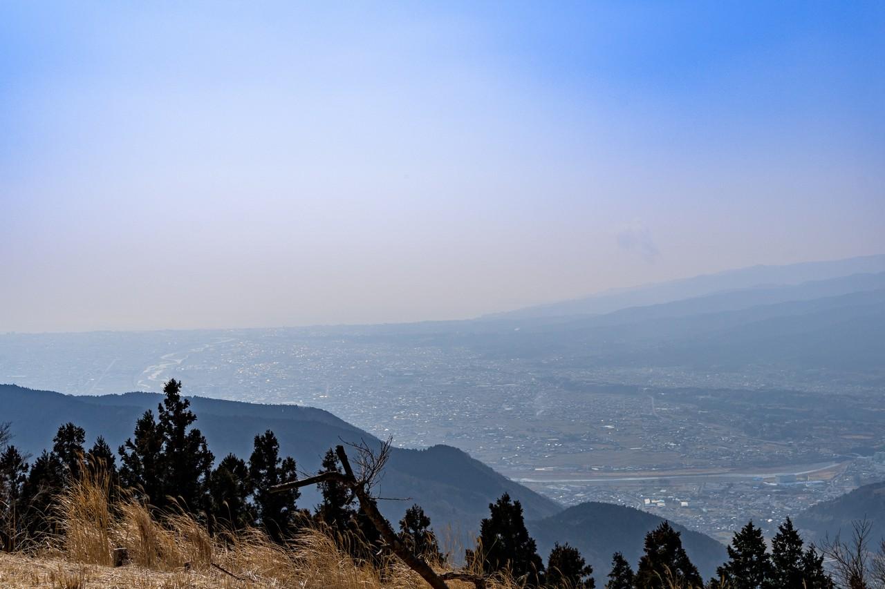 高松山の山頂から見た相模湾