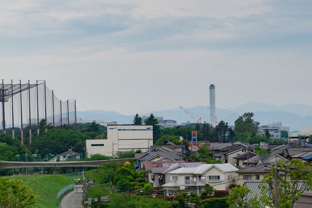 摩よこやま道から見た唐木田方面の光景