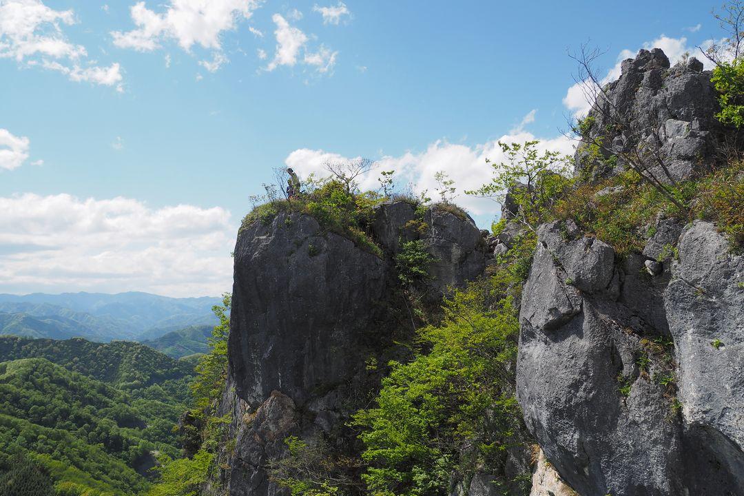 二子山 西岳の岩場