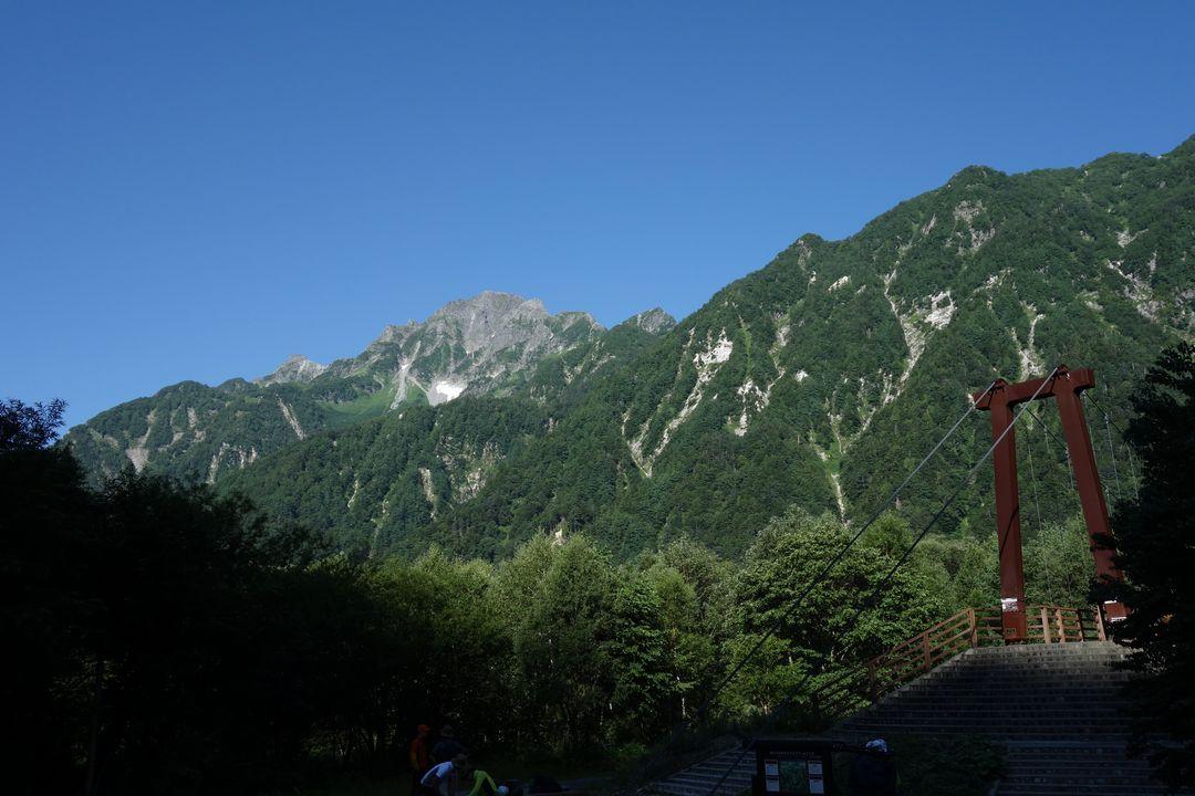 横尾よりから見た前穂高岳