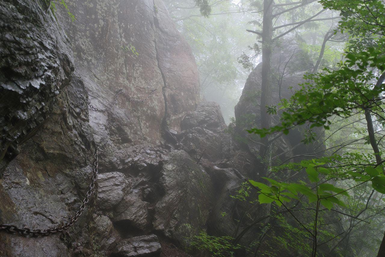 大岳山 大岳山荘付近のトラバース
