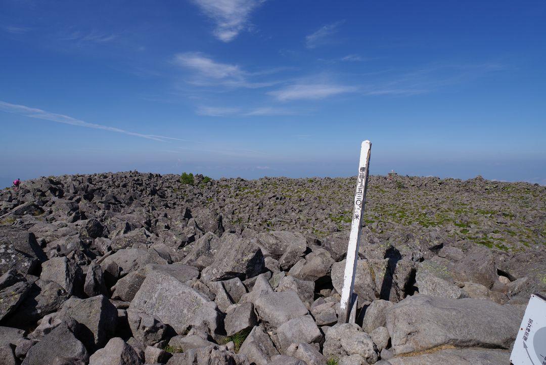蓼科山の山頂標識