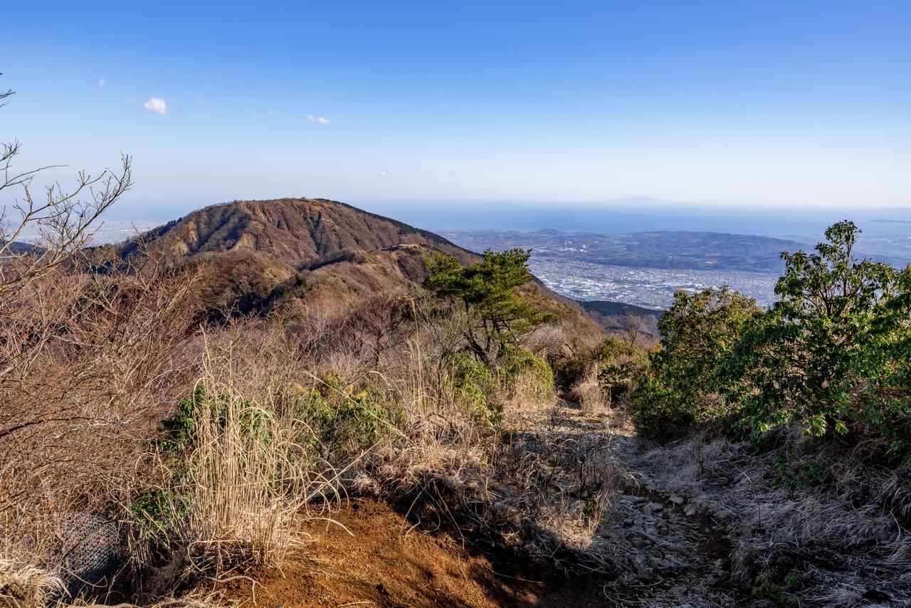 丹沢表尾根の登山道