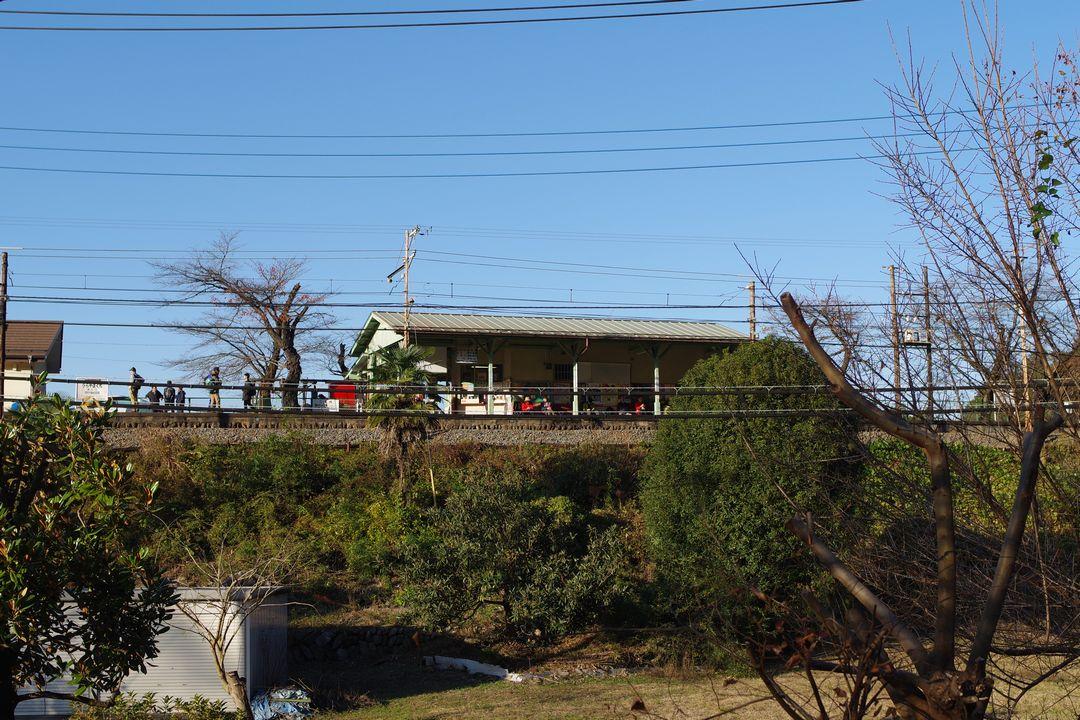 浦山口駅の遠景