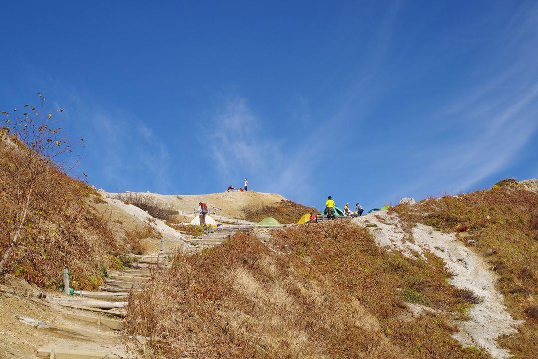 合戦尾根 稜線手前の最後の登り