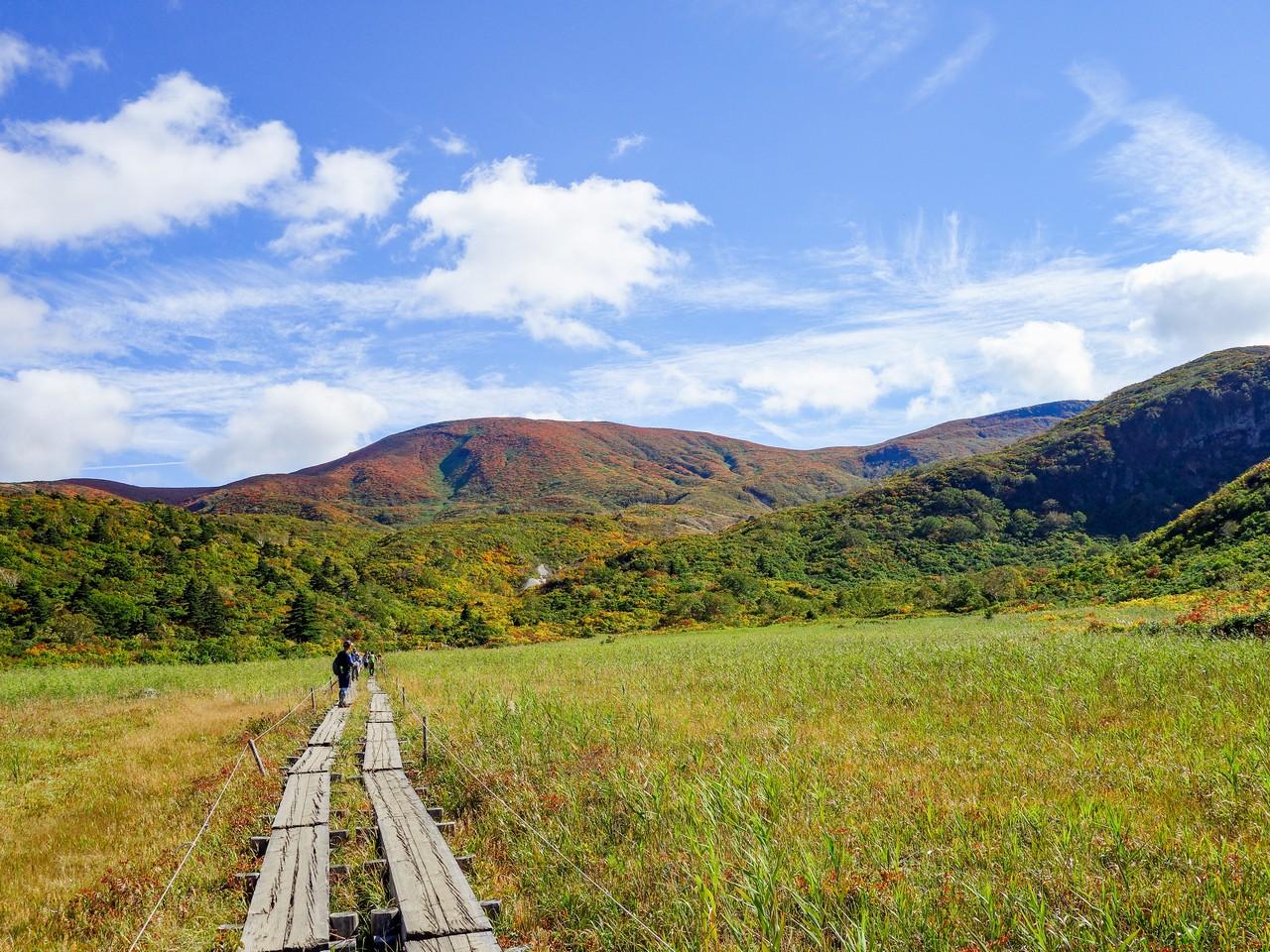 須川高原から見た栗駒山