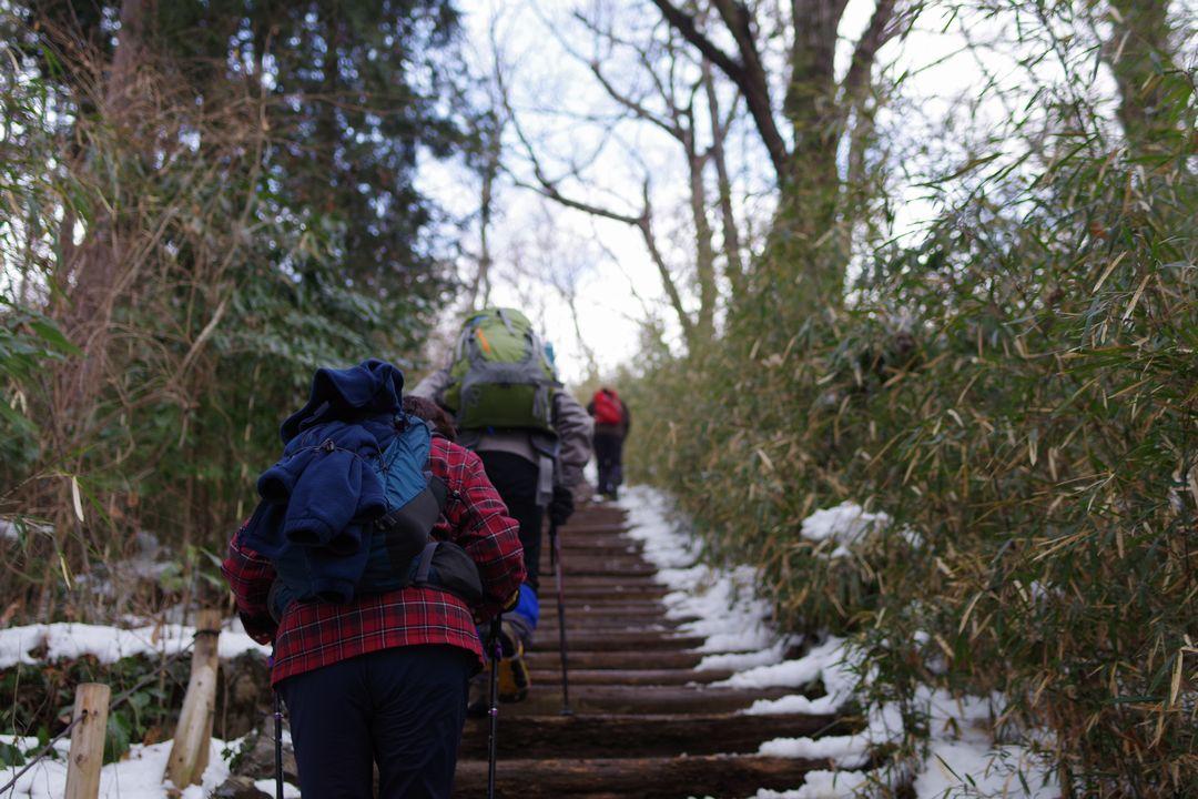 高尾山 稲荷山コース山頂直下の階段