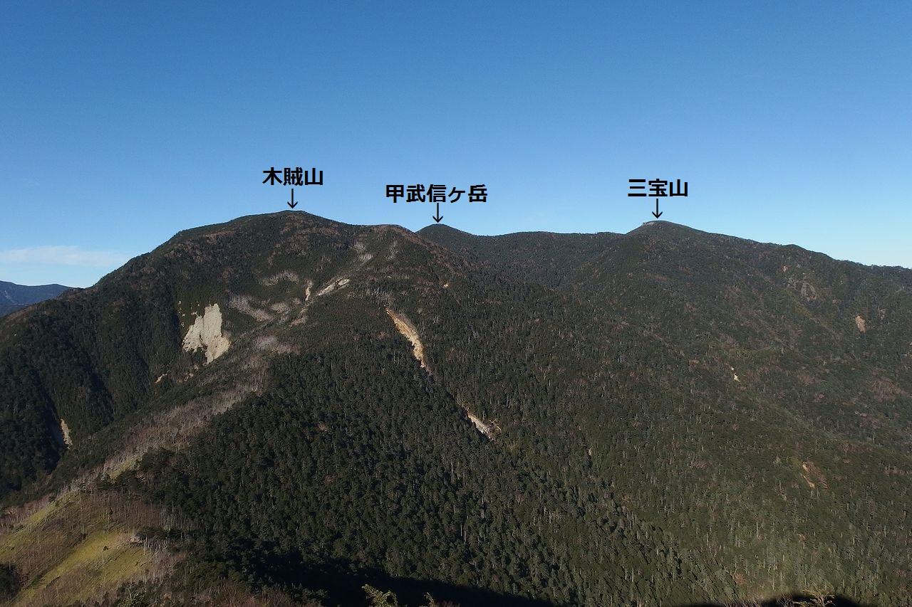 破風山から見た木賊山