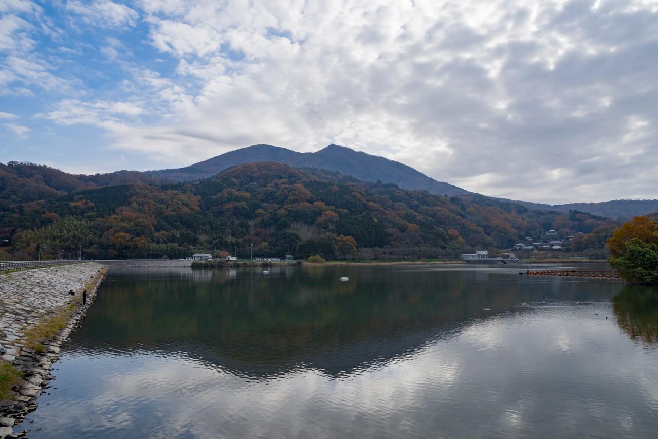 つくし湖から見た逆さ筑波山