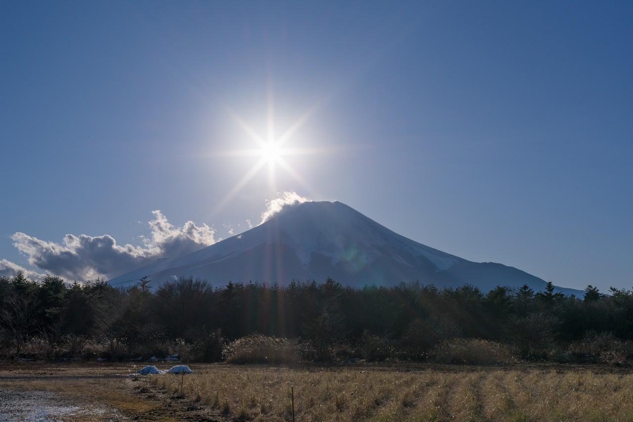 花の都公園から見た富士山