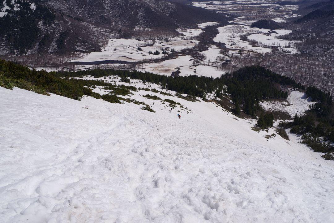 至仏山 山の鼻への下り