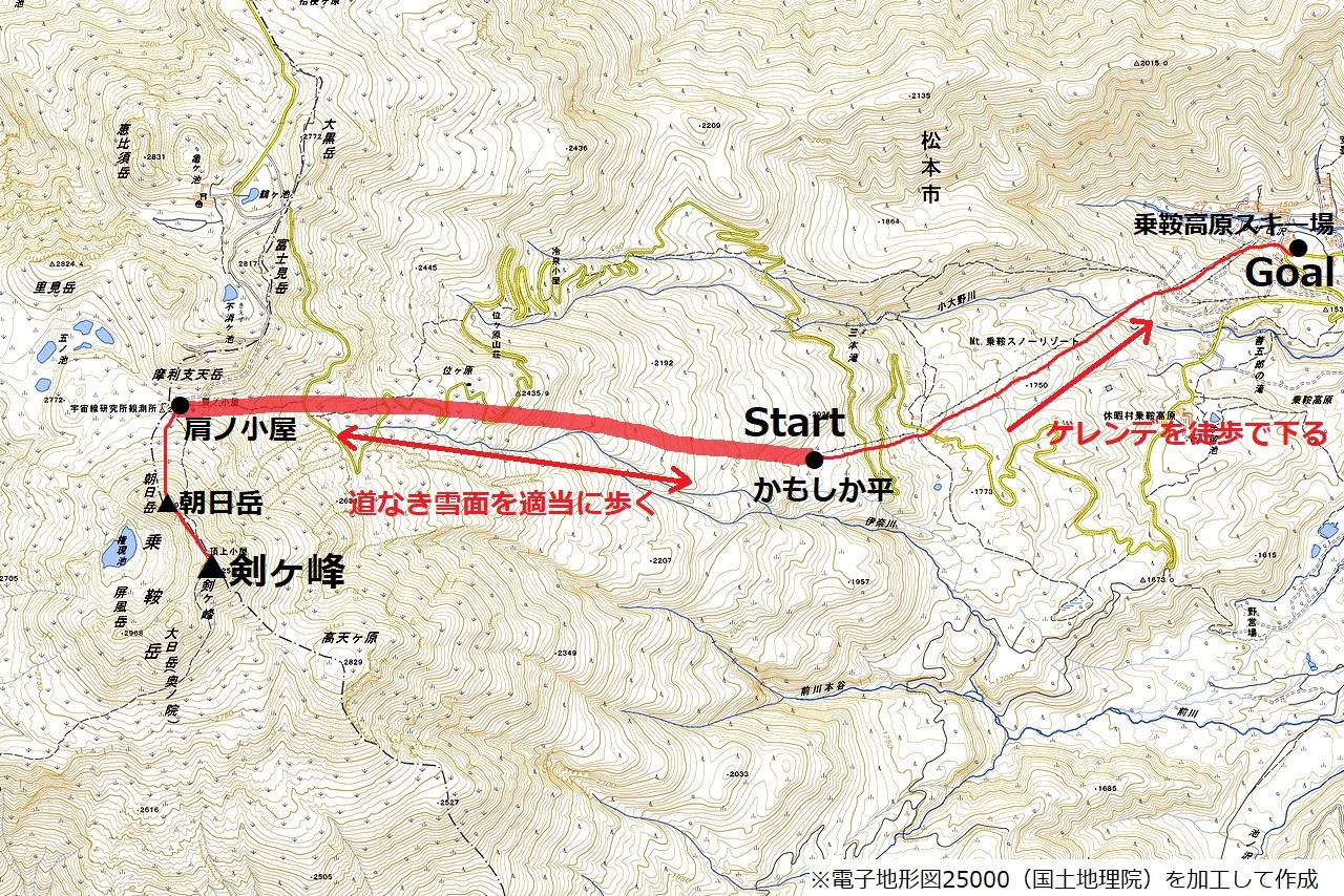 170319乗鞍岳_map1