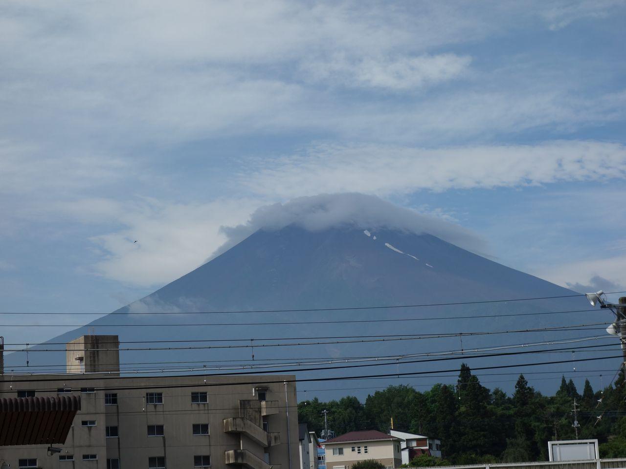 富士山駅から見た富士山