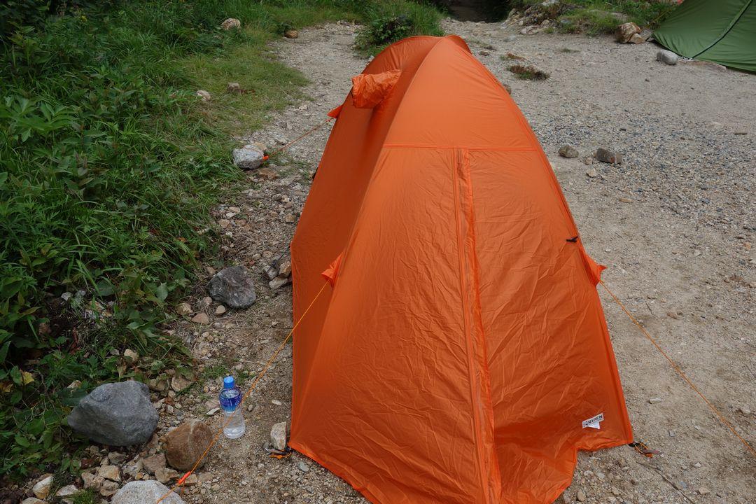 ババ平に設営したテント