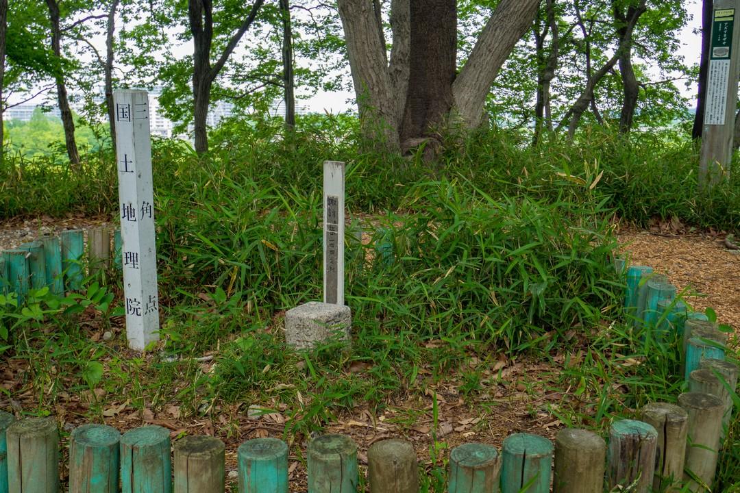 諏訪ヶ岳の山頂標識