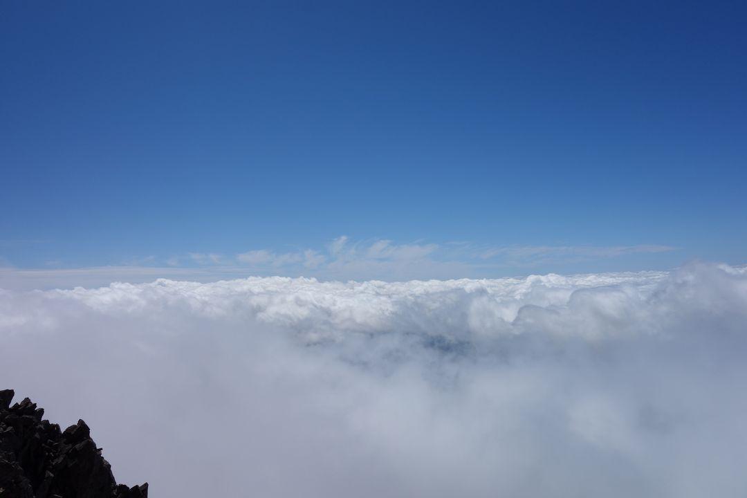 前穂高岳から見た雲海