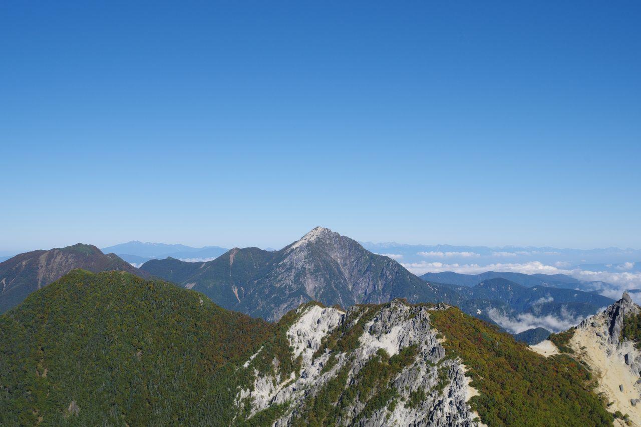 鳳凰山 観音岳から見た甲斐駒ケ岳