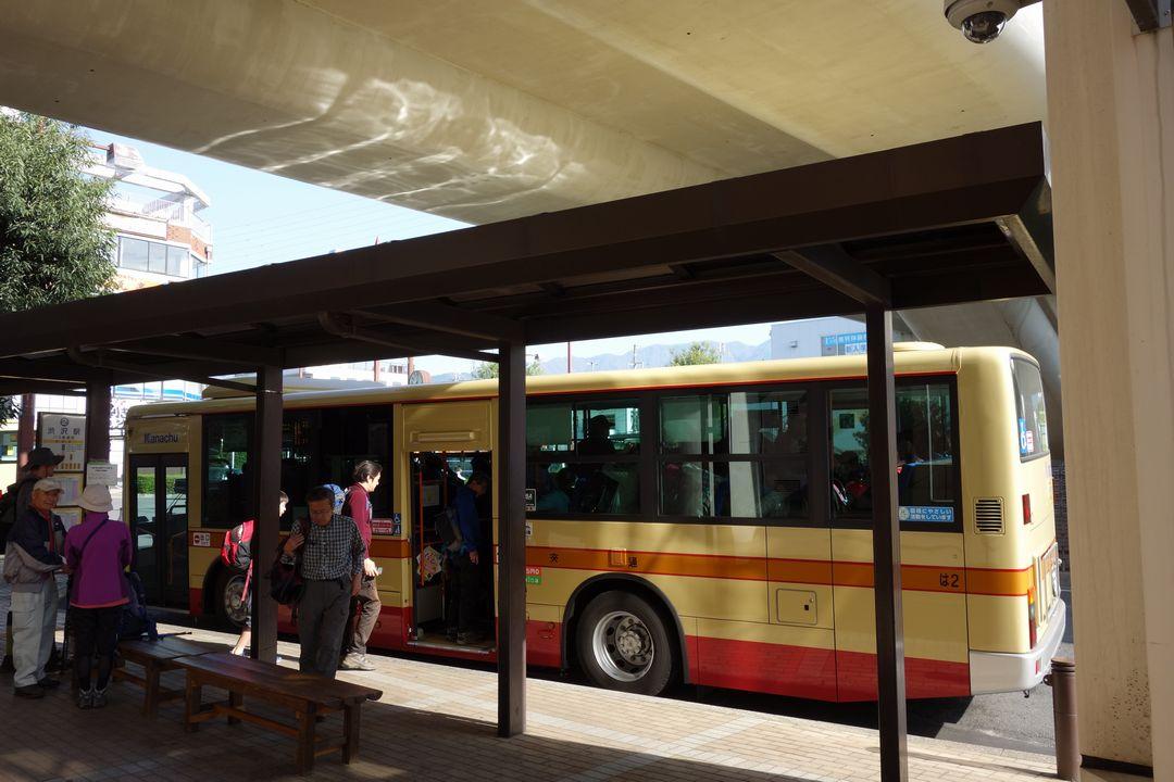 渋沢駅 大倉行きバス