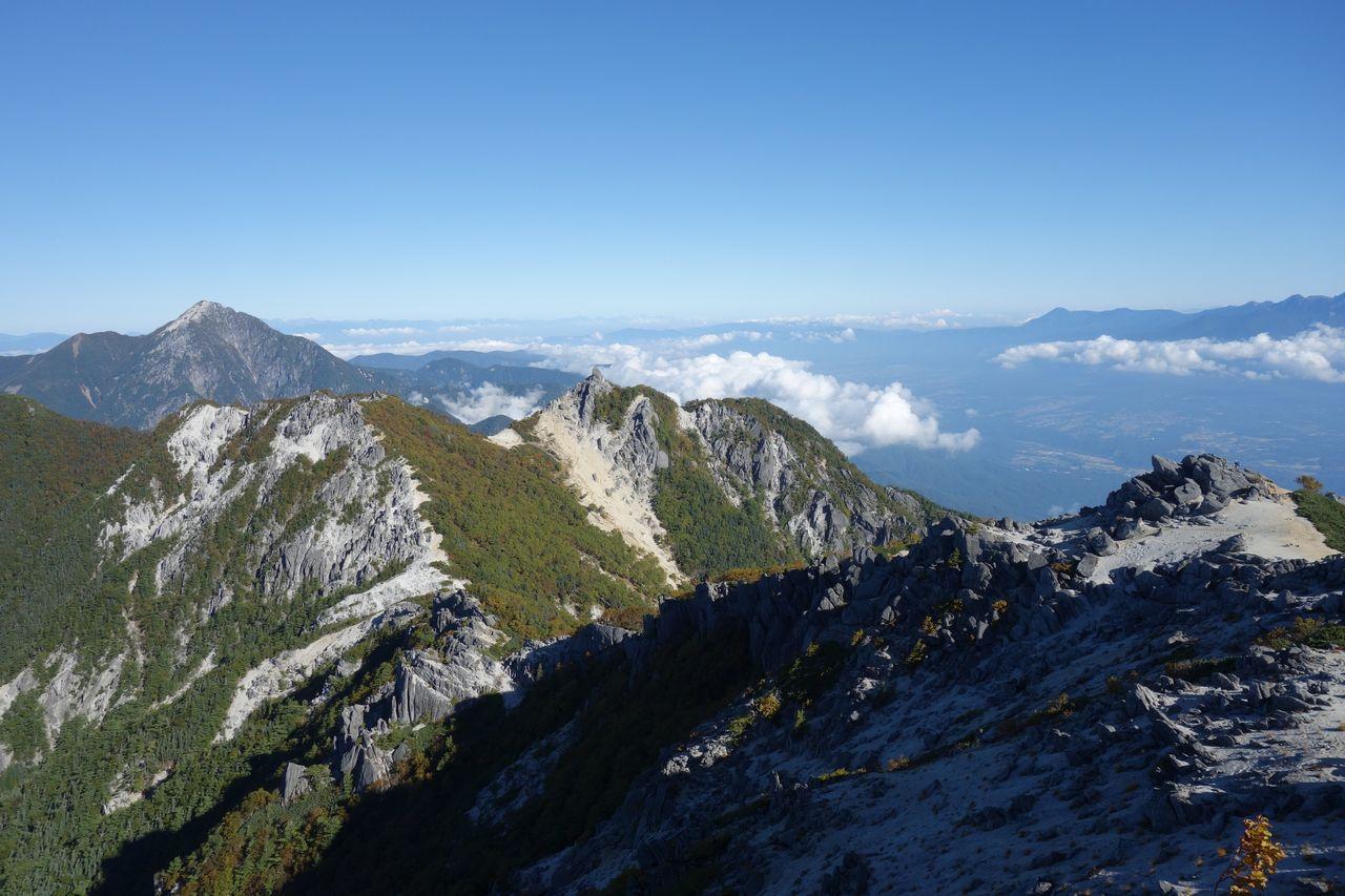 鳳凰山 観音岳から見た地蔵岳