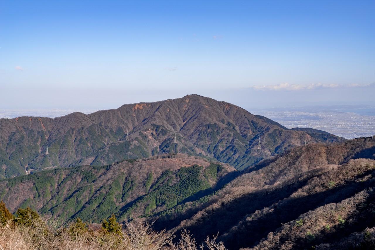表尾根から見た大山