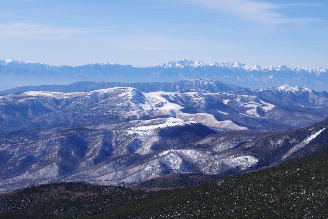 茶臼山の展望台から見た霧ケ峰