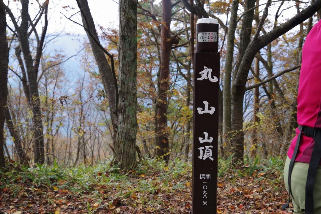 丸山の山頂標識