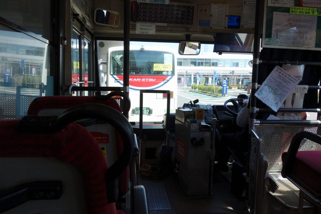 戸倉行きバスの車内