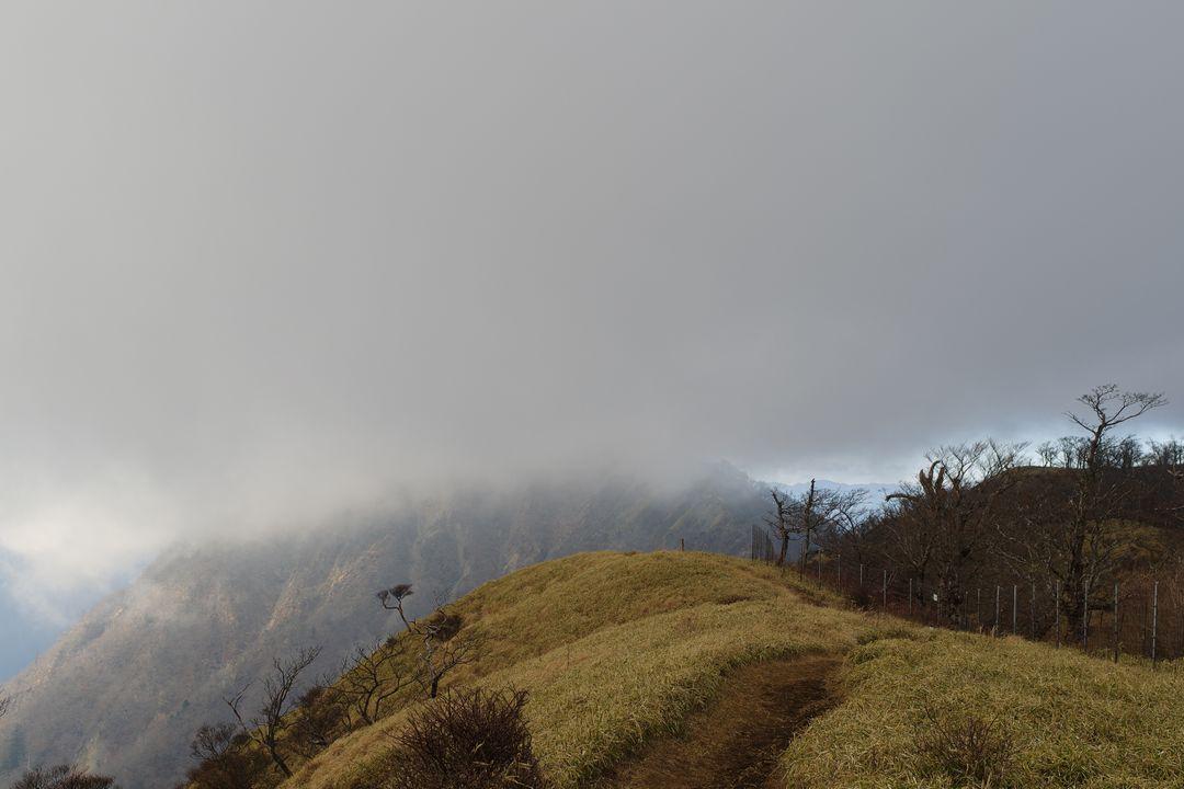 ガスに覆われた蛭ヶ岳