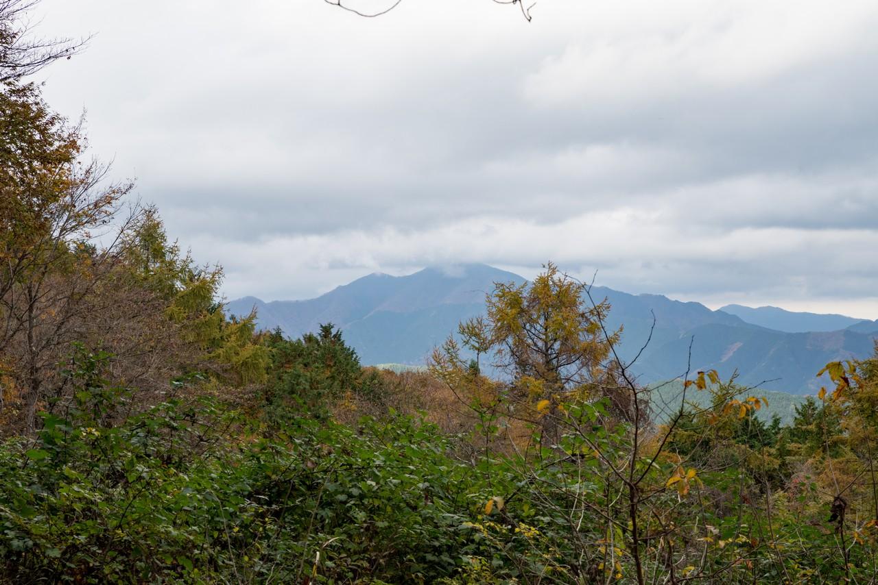 笹尾根から見た御前山
