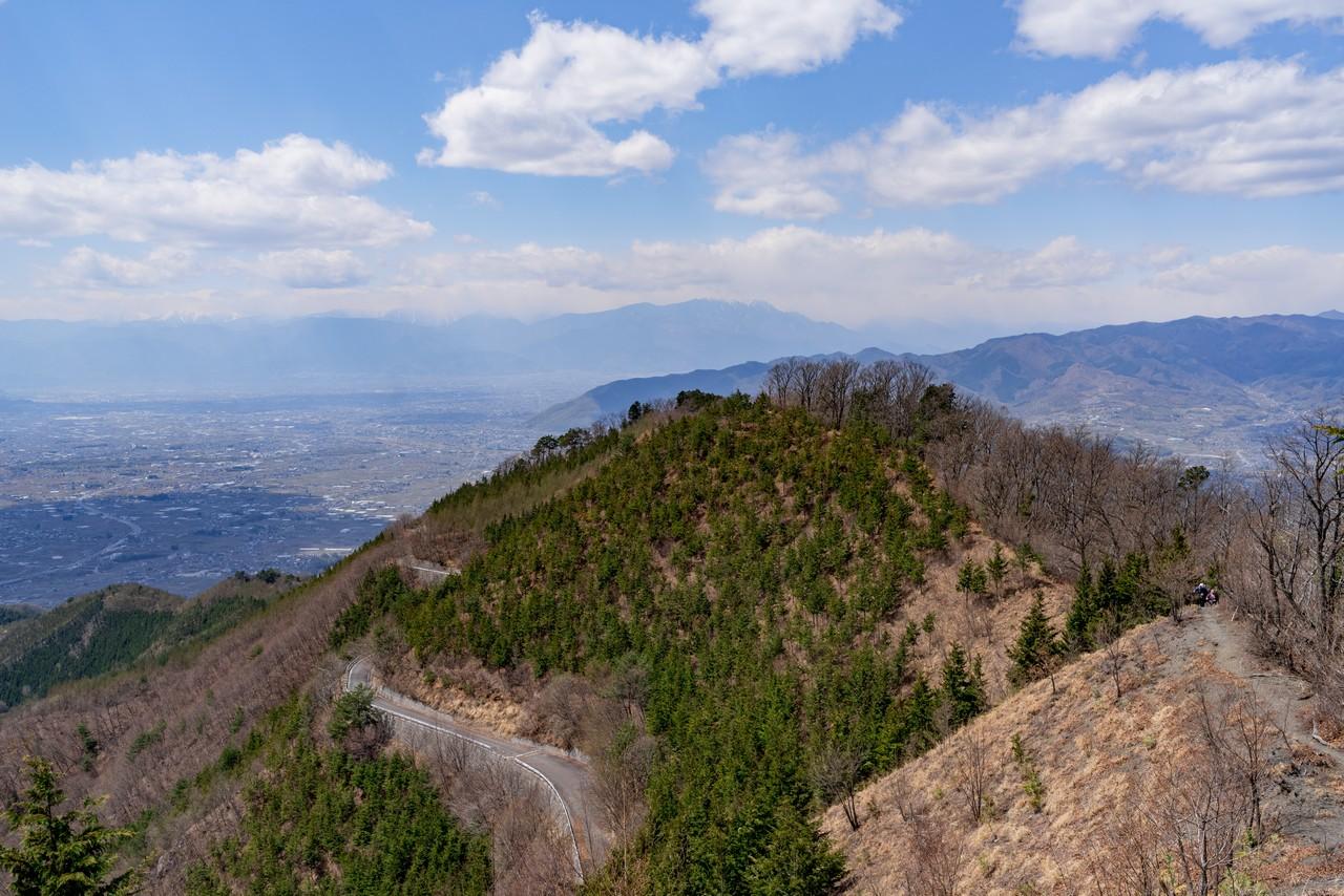 甲州高尾山と甲府盆地