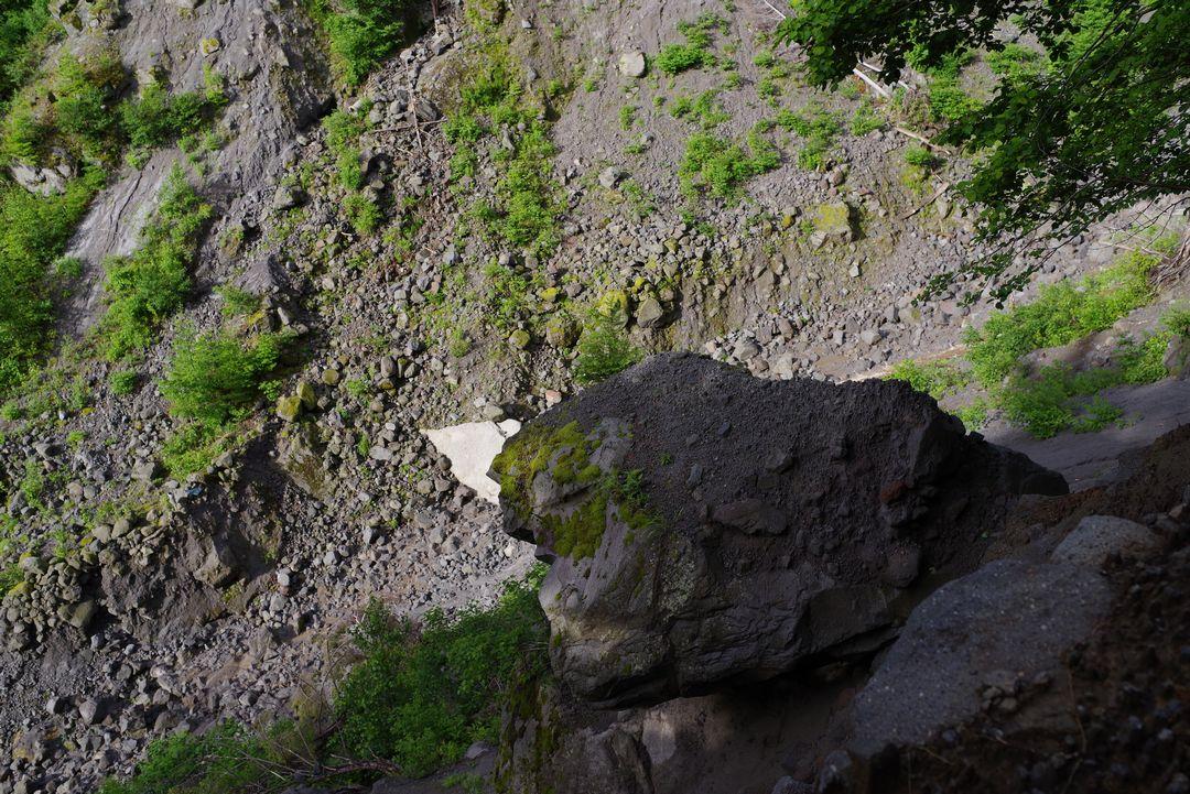 焼岳 峠沢の侵食谷