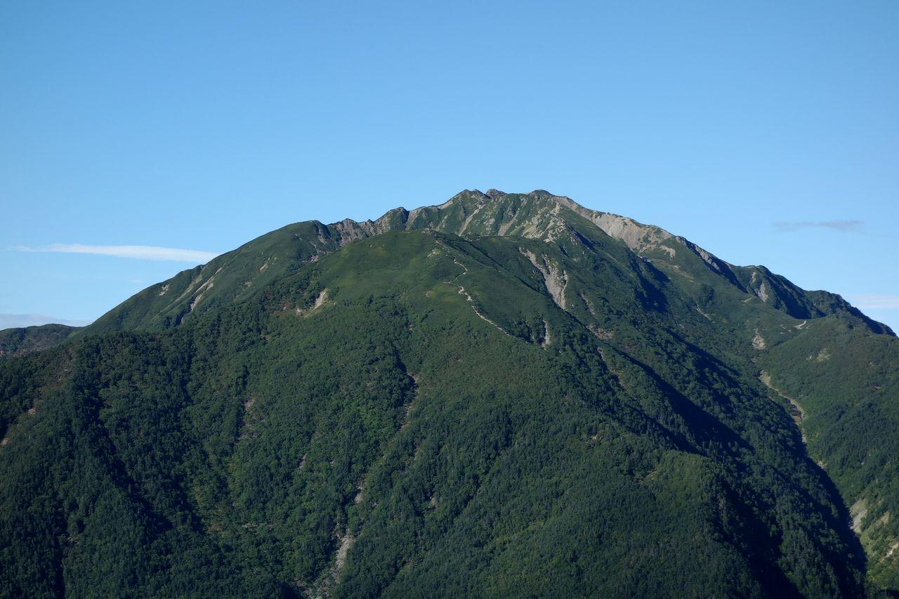駒津峰から見た仙丈ケ岳