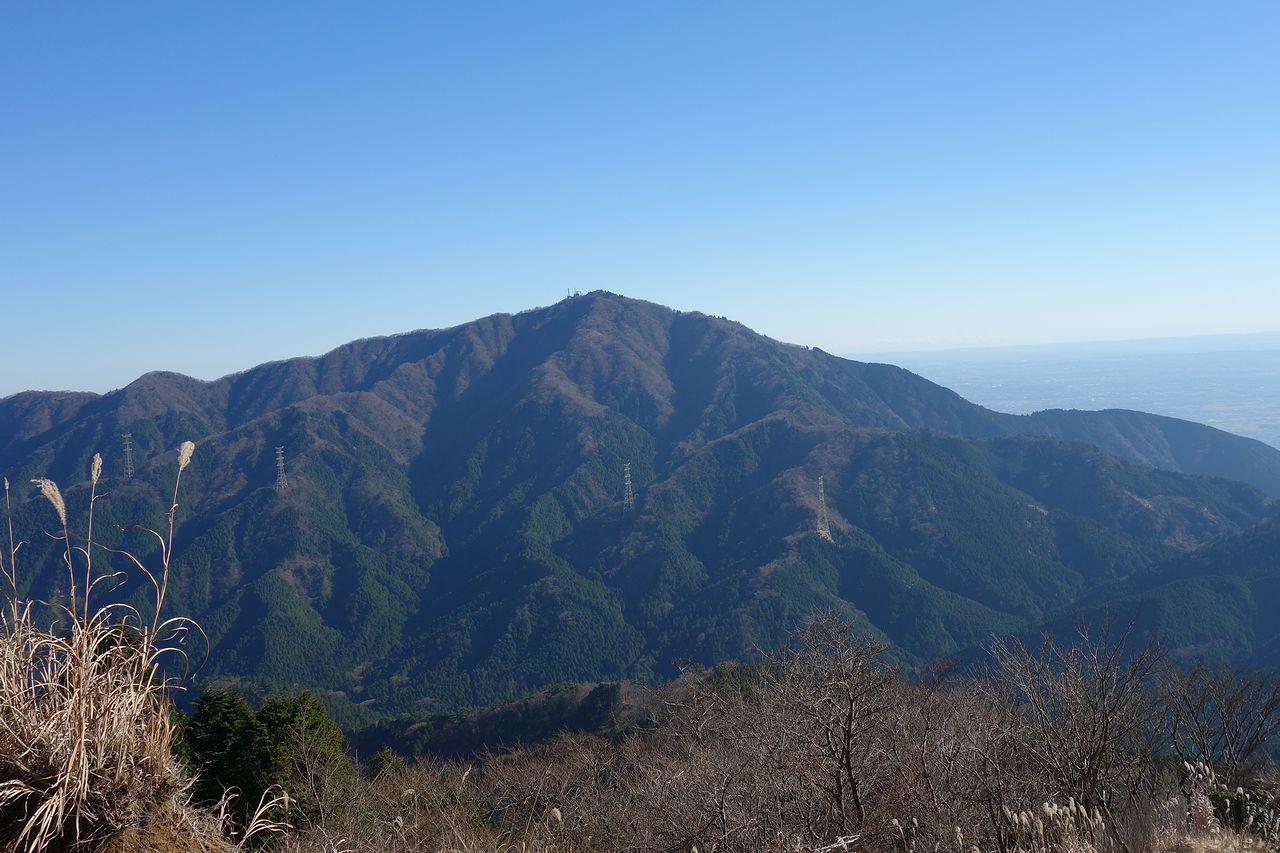 丹沢表尾根から見た大山
