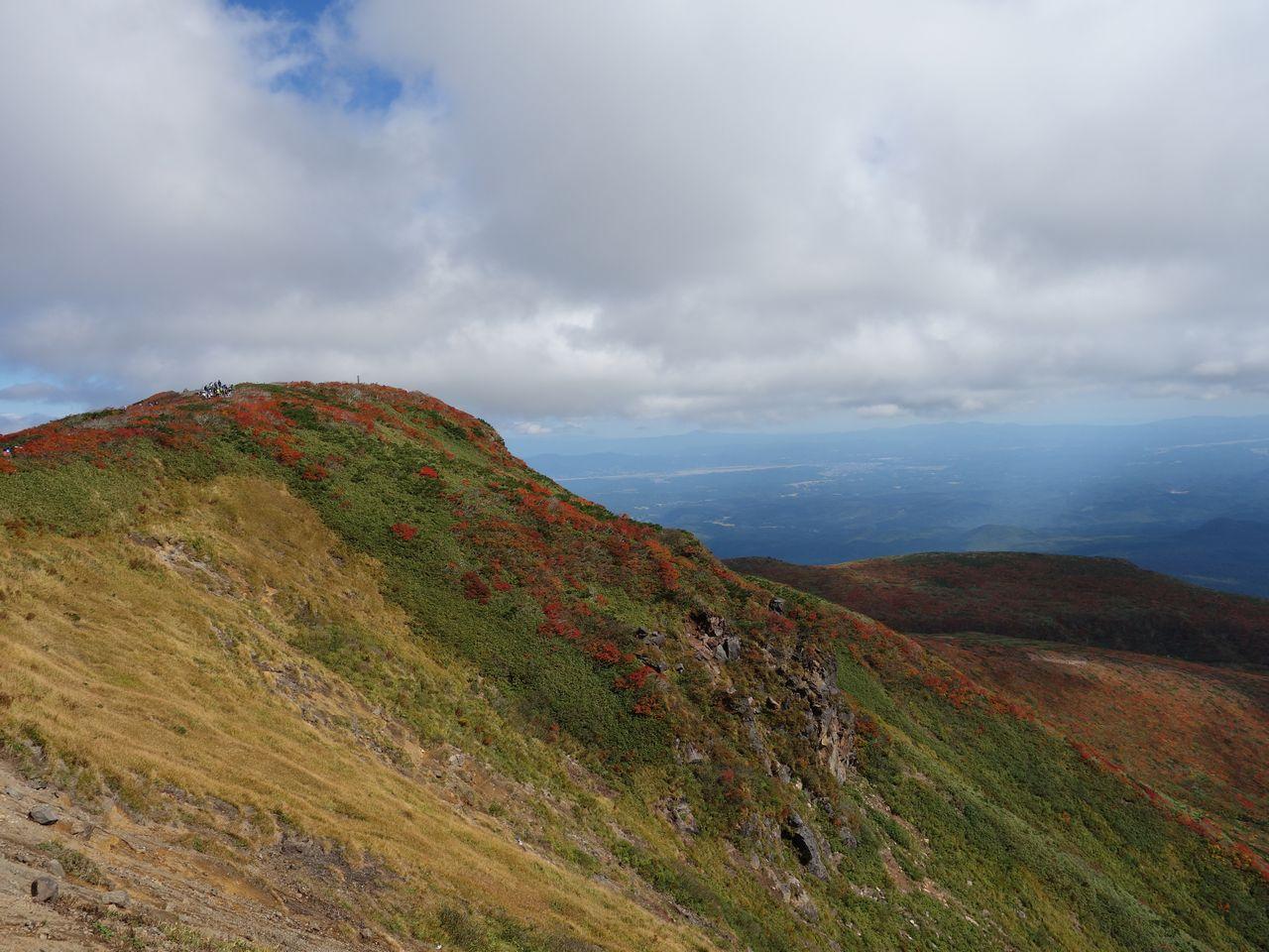 栗駒山の山頂部
