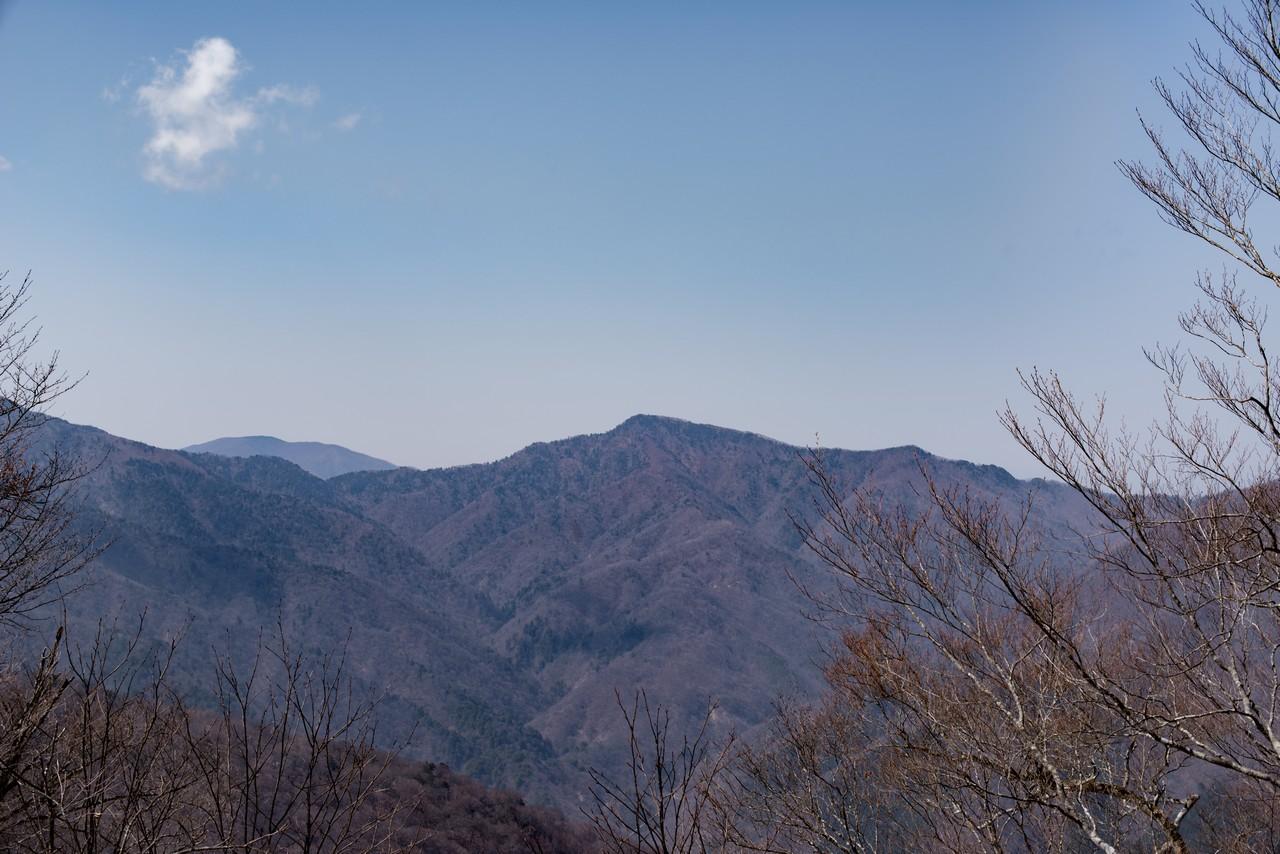 鷹ノ巣山から見た芋木ノドッケ