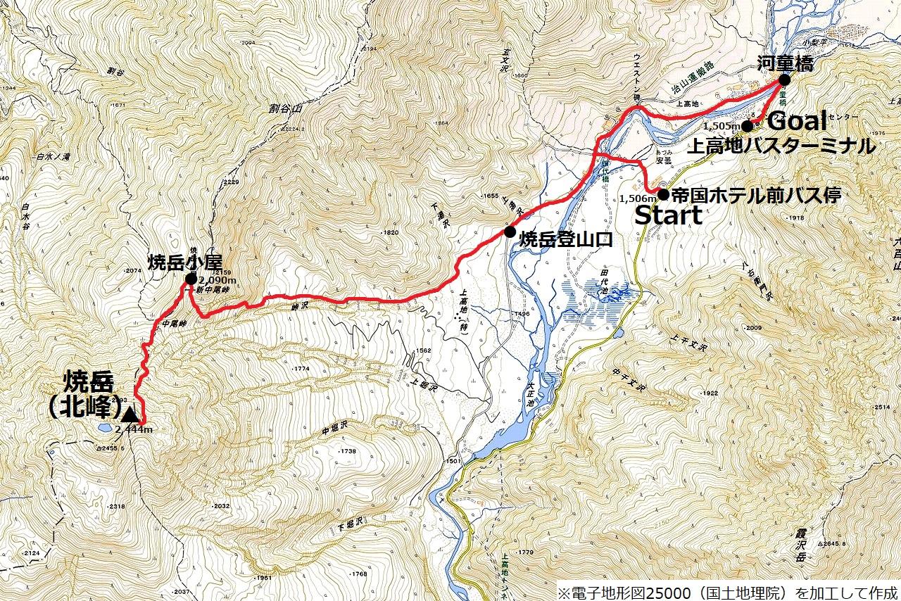 180701焼岳_map