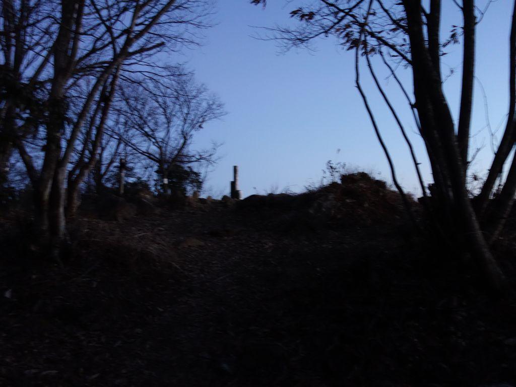黄昏時の大岳山山頂