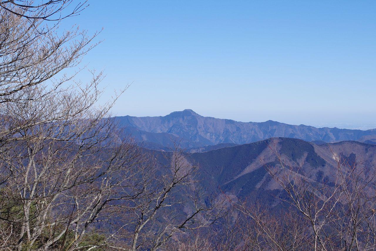 権現山から見た大岳山