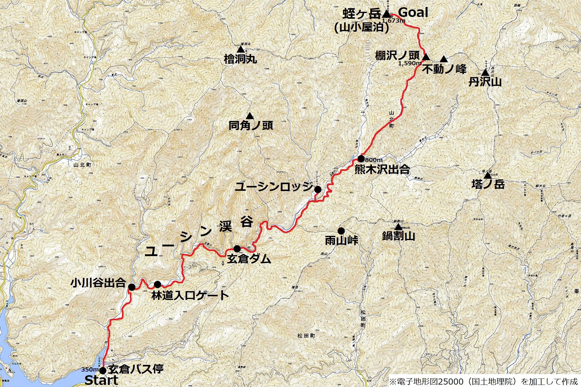171229蛭ヶ岳_map