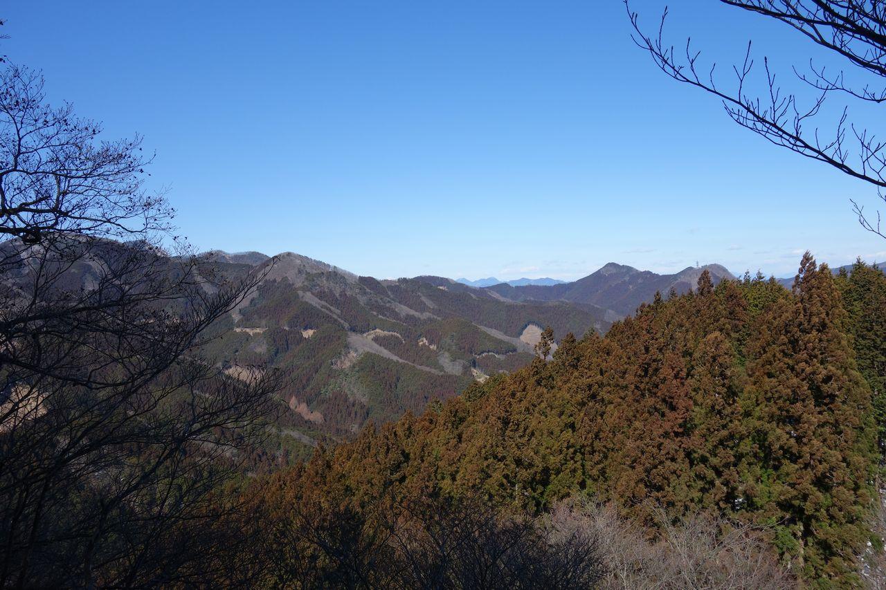 伊豆ヶ岳 男坂からの眺望