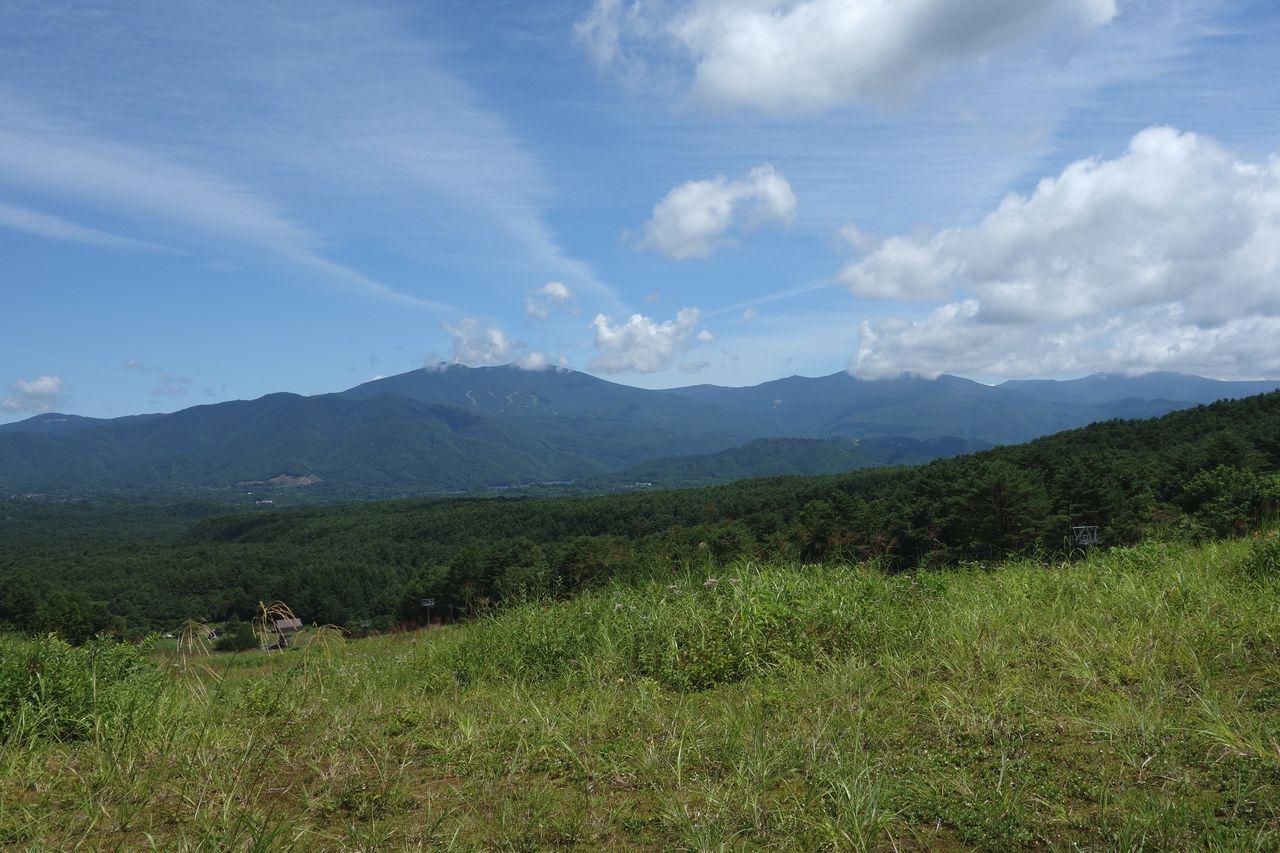 裏磐梯スキー場から見た吾妻連峰