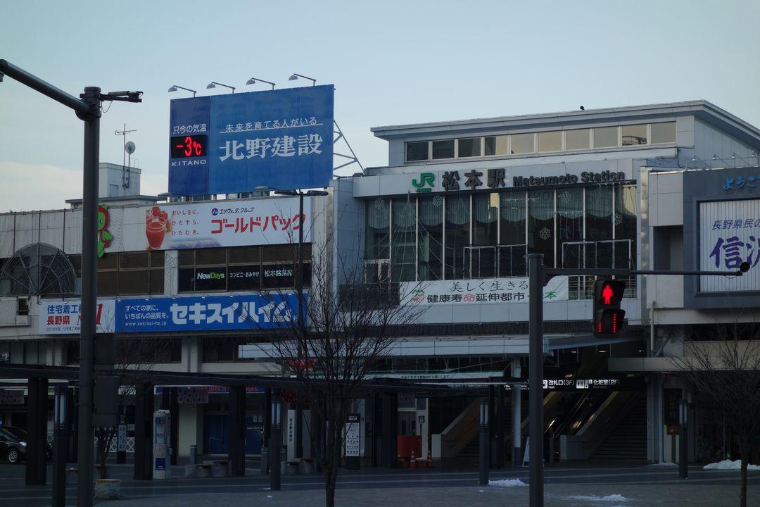 松本駅駅前の温度計